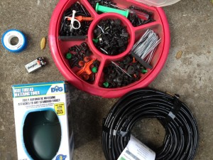 irrigation kit and supplies