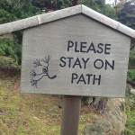 japanese garden pathway sign