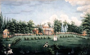 Front of Monticello Gardens 1825