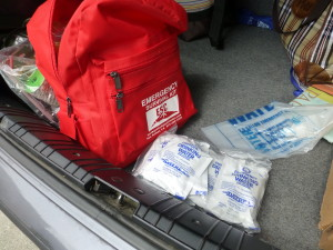 Emergency Kit in the trunk of the car