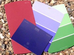 color swatches for garden