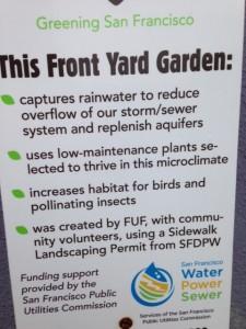 SF Public Works Sidewalk Garden Info