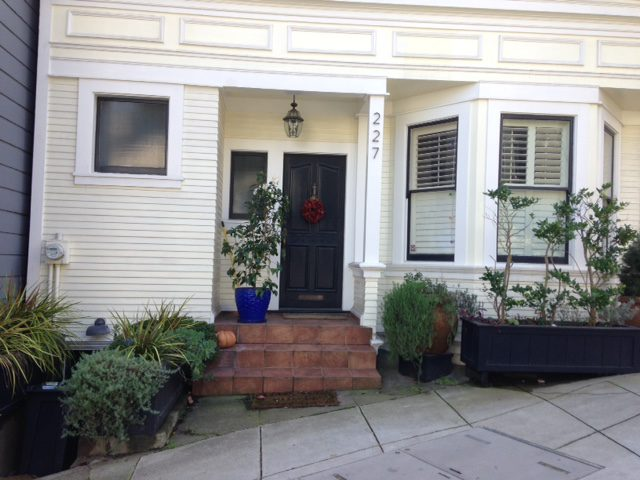 Front house with planters san francisco
