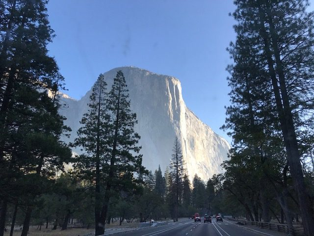Half Dome at Yosemite in early morning autumn light
