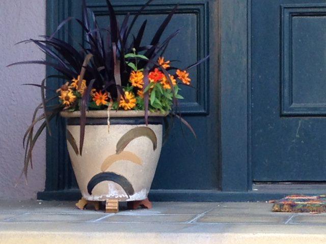 fall inspired garden planter