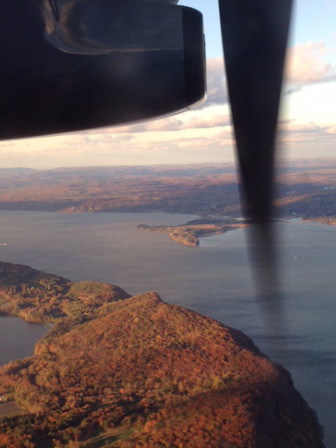 Beautiful fall color flying over Westchester, NY