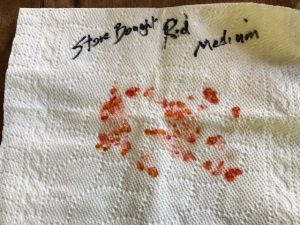 tomato seeds stored on paper towel