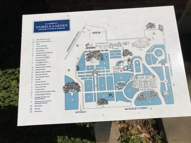 Elizabeth Gamble Gardens property map. Palo Alto, CA