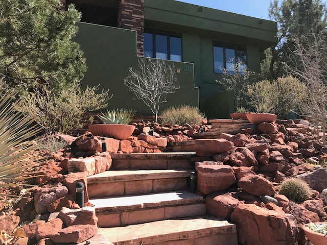 Red Rocks stairs leading to home